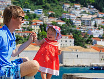 Father and little daughter in Europe Royalty Free Stock Photography