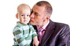 Father with little son Royalty Free Stock Photo
