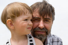 Father and little son Stock Photo