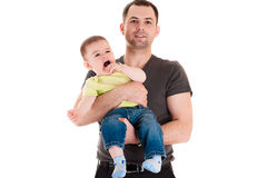Father and little son Royalty Free Stock Photos