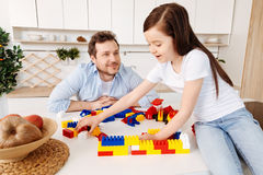Father looking at his daughter with pride and love Stock Photography