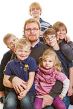 Father with many children Royalty Free Stock Photos