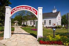 Father Marquette Park Stock Photo