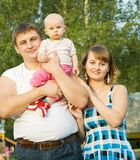 Father and mother with baby Royalty Free Stock Images