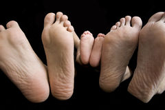 Father, Mother and Baby's Feet Royalty Free Stock Photography