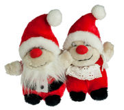 Father and mother christmas. Santa Claus and his wife as dolls Stock Photography