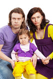 Father, mother and daughter Stock Photography