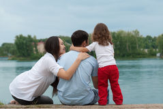 Father, mother and daughter Royalty Free Stock Photo