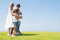 Father mother daughter and son Stock Photography