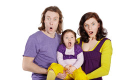 Father, mother and daughter their hold on hands Royalty Free Stock Photography