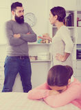 Father and mother quarrelling Stock Image