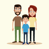 Father mother and son family. Illustration vector illustration
