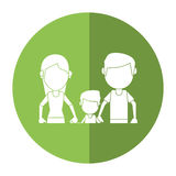 Father mother and son hing hands shadow Royalty Free Stock Photos