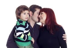 Father, mother and their son Royalty Free Stock Images