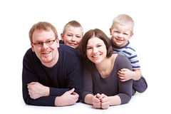 Father and mother and two children Royalty Free Stock Image