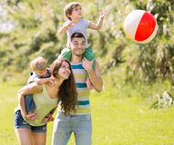 Father, mother and two children Stock Photos