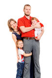 Father, mother and two sons. Studio shot Stock Photos