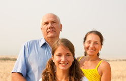 Father and mother whith teen daughter Royalty Free Stock Photos