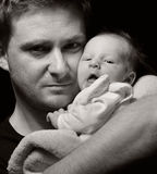 Father and newborn baby. Royalty Free Stock Photos