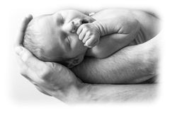 Father with newborn baby Royalty Free Stock Photo