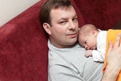 Father with newborn Stock Image