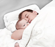 Father and the newborn Royalty Free Stock Images