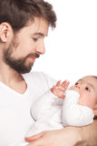 Father and offspring Stock Image