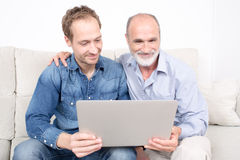 Father and older son Royalty Free Stock Photography