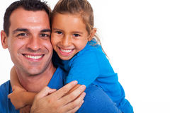 Father piggyback daughter Royalty Free Stock Photography
