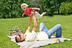 Father Play With Baby Girl Stock Images