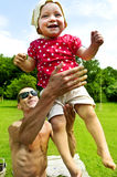 Father Play With Baby Girl Royalty Free Stock Images
