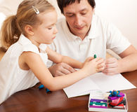 Father play with child at home royalty free stock photography