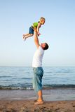 Father Play With Son Royalty Free Stock Photo