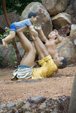 Father Playing with Children Stock Photo