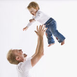 Father Playing with Daughter Royalty Free Stock Photos