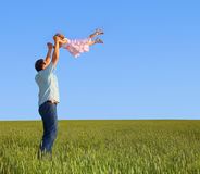 Father playing with daughter Stock Image
