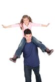 Father Playing with Daughter stock photography