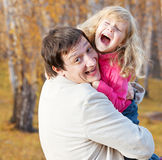 Father playing with daughter Royalty Free Stock Photo