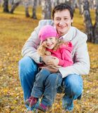 Family. Father playing with daughter. Royalty Free Stock Photography