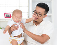 Father playing with his baby boy. Stock Images
