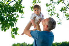 Father playing with his son. Royalty Free Stock Photos