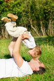 Father playing with son Royalty Free Stock Image