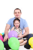 Father plays with the daughter. Stock Images