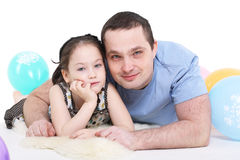 Father plays with the daughter Royalty Free Stock Photo