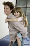 Father plays with daughter Royalty Free Stock Photography