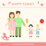 Father and pregnant women. Happy family concept Vector illustration of a modern flat style Royalty Free Stock Photos