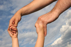 Father S And Son S Hands Royalty Free Stock Photos