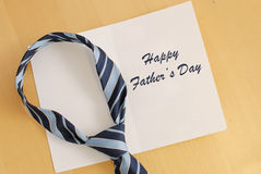 Father's Day. Fathers Day Greeting Card with Neck Tie Stock Photography