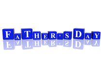 Father's day in 3d cubes Royalty Free Stock Photography