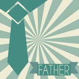 Father's day. Abstract tie representing a father's day symbol on special background Stock Photography